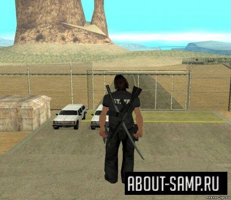 скачать мод оружия за спиной для Gta San Andreas - фото 5